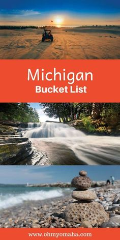 Ultimate wish list of things to do in Michigan - Dream places to visit in Michigan, Michigan restaurant to dine at and adventures to have in Michigan. Vacation Places, Vacation Spots, Places To Travel, Travel Destinations, Vacation Trips, Vacation Ideas, Traverse City Michigan, Lake Michigan, Leland Michigan