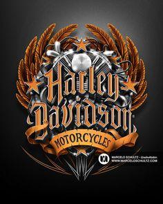 Harley-Davidson Designs by Marcelo Schultz, via Behance #harleydavidsonchoppersbikes