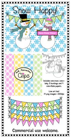 Snow Happy Clip Art Collection $ http://www.teacherspayteachers.com/product/clip-art-collection-snow-happy-1001878