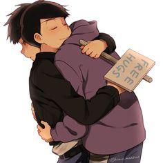 Osomatsu-san - Karamatsu x Ichimatsu Matsuno - KaraIchi Gay Couple, Vocaloid, Fanfiction, Osomatsu San Doujinshi, Witch Art, Ichimatsu, Hot Anime Guys, Wattpad, Me Me Me Anime