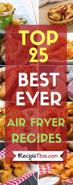 Top 25 Best Ever Air Fryer Recipes for beginners. Fantastic collection of air fryer recipes to get you started. Air Fryer Oven Recipes, Air Fryer Dinner Recipes, Grill Recipes, Crockpot Recipes, Air Fryer Cooking Times, Air Fried Food, Paleo For Beginners, Best Air Fryers, Cooking Courses