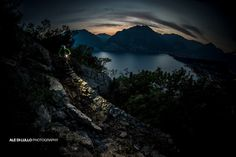 Epic night riding around Lake Garda with @bretttippie