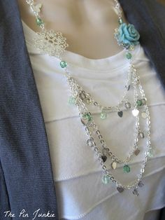 DIY tutorial for creating a custom necklace.