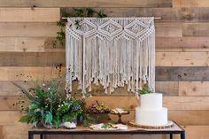 macrame wall hanging dessert table