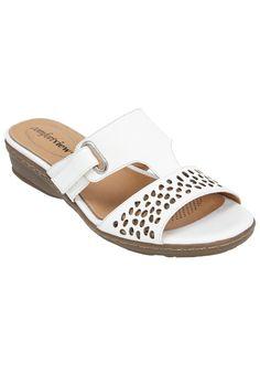 d01df69ec Cozette leather sandal by Comfort View. Fashionable Plus Size Clothing