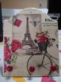 Porta llaves listo para colgar. Decoupage Art, Chalk Paint, Lanterns, Stencils, Hanger, Mandala, Shabby Chic, Reusable Tote Bags, Floral