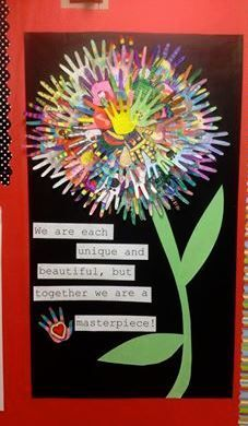 Cute Bulletin Board idea for beginning of school/open house