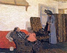 le blanc espace , Huile sur panneau de Edouard Vuillard (1868-1940, France)   - Huile sur panneau - 1899