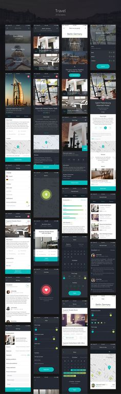 Routes is a big iOS UI Kit, full of nice UI elements, organized into 100+ high quality screens. Routes is about things that make us happy – about traveling, communication and spending money on nice things. It's about the feeling of freedom.