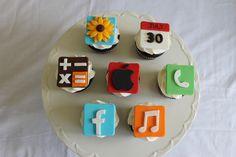 Apple iPhone cupcakes
