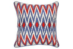 Montauk 22x22 Linen Pillow, Multi on OneKingsLane.com  patriotic pillow!