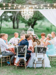 This Romantic Wedding Is Your Ultimate Inspiration For a Spring Ceremony: How do you even begin to describe such a dreamy wedding? Romantic Wedding Receptions, Outdoor Wedding Reception, Outdoor Ceremony, Romantic Weddings, Real Weddings, Wedding Venues, Wedding Ideas, Wedding Inspiration, Wedding Stuff