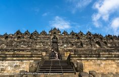 Borobudur Temple is a Mahayana Buddhist temple, world's largest Buddhist temple, and also one of the greatest Buddhist monuments in the world. Borobudur Temple, Buddhist Temple, Tower Bridge, Louvre, World, Building, Origins, Monuments, Temples