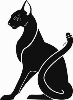 Taking parts of this one and adding it to another.   (Egyptian cat tattoos - Google Search) love it