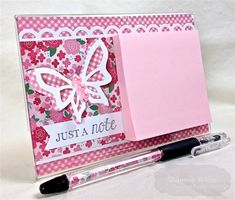 Enchanted Ladybug Creations: Just A Note - Taylored Expressions! Craft Gifts, Diy Gifts, Peppa E George, Post It Pad, Picture Frame Crafts, Post It Note Holders, Craft Show Ideas, Craft Sale, Craft Fairs