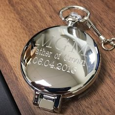 Personalized Pocket Watch Set Groomsman Gift by EngravingsOnDemand
