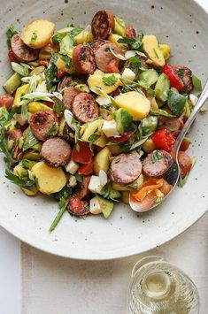 After a quick sear in a skillet, crispy rounds of smoked sausage—like the classic version from Hillshire Farm—quickly transforms an everyday potato salad from a side dish into a satisfying meal. #sidedish #sidedishrecipes #mushrooms #mushroomrecipes #wildmushrooms #morelmushrooms #morelrecipes #wildmorels Quick Side Dishes, Side Dish Recipes, Wine Recipes, Hardy Food, Hardy Meals, Salads Up, Classic Potato Salad, Sausage Potatoes, Mushroom Recipes