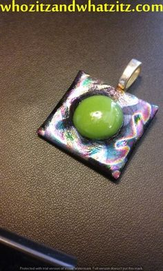 Alien Space Egg Dicrotic Glass Necklace