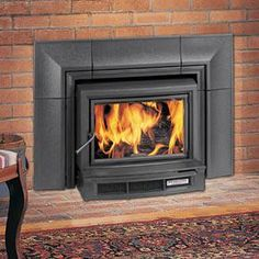 Wood Burning Stove Insert w/ mantel on top | home ideas ...