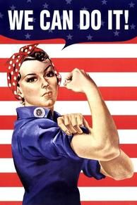 Propaganda posters in Artworks used for recruitment purpose and public opinion control. - Here you can see and buy a World War 2 poster. Old Poster, Ww2 Posters, Propaganda Art, American Freedom, American Pride, Rosie The Riveter, We Can Do It, Life Choices, Health And Wellbeing