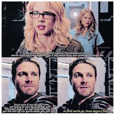 Arrow Season Even when it's not the Oliver who loves Felicity he is still impressed by. The Cw Shows, Dc Tv Shows, Arrow Cw, Team Arrow, Oliver And Felicity, Felicity Smoak, Supergirl Dc, Supergirl And Flash, Arrow Season 6