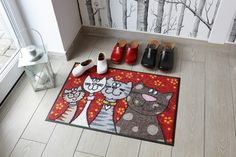 #Fußmatte Katzenfamilie