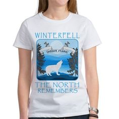 #GameofThrones House #Stark Winterfell The North Remembers #Cafepress Official Portal for all this design click here http://www.cafepress.com/dd/110714301