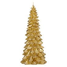 Buy John Lewis Boutique Christmas Tree Candle, Large, Gold Online at johnlewis.com