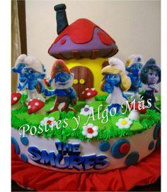 Torta de los Pitufos - The Smurfs Cake