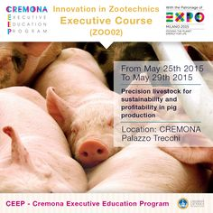 """""""Precision livestock for sustainability and profitability in pig production"""" http://www.cremonafoodvalley.com/courses/innovation-in-zootechnics-zoo/course/precision-livestock-for-sustainability-and-profitability-in-pig-production.html — #Cremona #CEEP #Expo2015"""