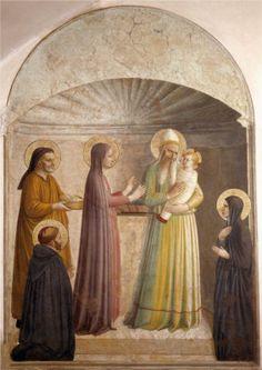 Presentación de Jesús en el templo - Fra Angelico- fresco. Convento di San Marco Firenza