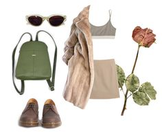"""""""rosas"""" by matissex ❤ liked on Polyvore featuring T By Alexander Wang, Maison Margiela, Lilli Ann, RetroSuperFuture and Dr. Martens"""