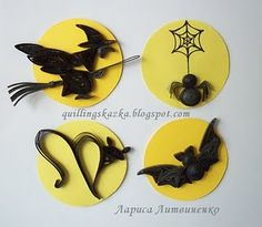 Halloween quilling patterns