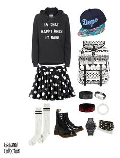 """""""kikikamil collection"""" by earrrth-style ❤ liked on Polyvore featuring Zoe Karssen, Noisy May, Dr. Martens, Monki, Michael Kors and Brahmin"""