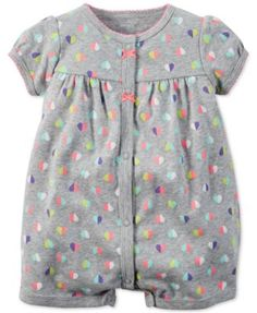 Carter's Baby Girls' Multicolor Heart-Print Creeper - Shop All Baby - Kids & Baby - Macy's