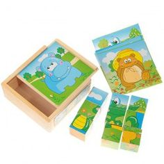 """9PCS Colorful Wooden Building Blocks for 6 Animal Patterns Intelligent Toy """"Sammydress #My Thanksgiving Wish List"""""""