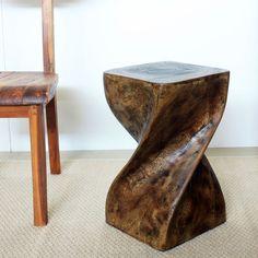 Haussmann 12-Inches Square x 20 Inches High Oil Twist Stool