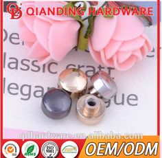 Made in China double cap metal rivet for leather bag