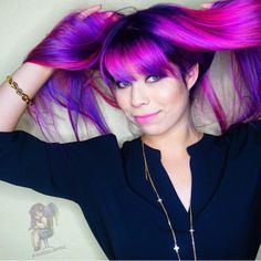 Wild thing Purple hair Magenta hair color by @ColorDollz instagram.com/hotonbeauty