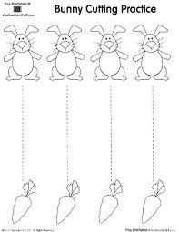 Imagen relacionada Cutting Practice Sheets, Preschool Cutting Practice, Cutting Activities, Easter Activities, Writing Practice, Free Preschool, Preschool Printables, Preschool Worksheets, Preschool Learning