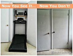Declutter guest room closet and make a Treadmill Closet Station  |   www.oh-my-goods.com