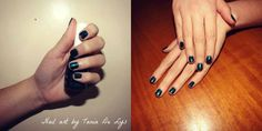 Dark green nails perfect for winter