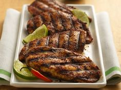 Lime- and Chili- Rubbed Chicken Breasts