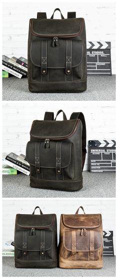 f11111c68 Vintage Leather Backpack College Backpack School Backpack Mochilas Tejidas,  Bolsos De Cuero, Articulos De