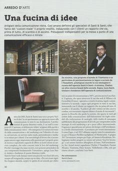 I Vassalletti on Arredo D'arte article dedicated to Santi&Santi communication agency