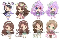 Chibi commissions by runawaywithyou.deviantart.com on @deviantART