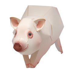 Miniature Pig - free printable - Canon CREATIVE PARK