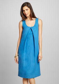 Lafayette 148 New York Linen Twill A-Line Dress