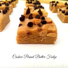 Cashew Peanut Butter Fudge – The Baking ChocolaTess