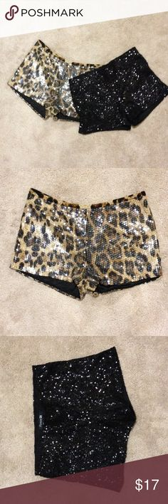 Sequin shorts forever 21 bundle Used but like new.. Each worn once. Lined. Great for going out! Forever 21 Shorts